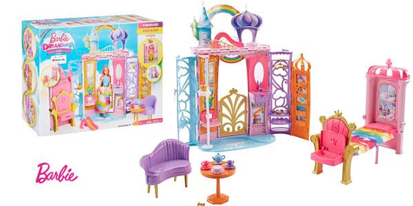 Palacio de muñecas Barbie Dreamtopia con accesorios (Mattel FTV98) barato en Amaozn