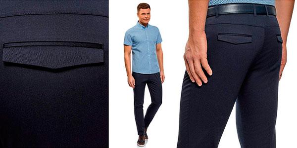 Pantalones Oodji Ultra slim con pinzas para hombre baratos