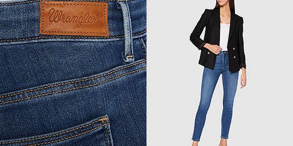 Pantalones vaqueros Wrangler Skinny para mujer baratos