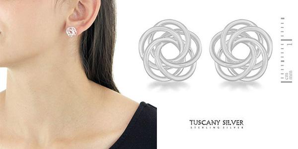 Pendientes Tuscany Silver 8.55.6849 de Plata de ley 925 para mujer chollo en Amazon