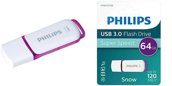 Pendrive Philips SNOW 3.3 de 64 GB USB 3.0