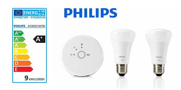 Philips Hue Lux LED bombillas E27 inteligentes baratas