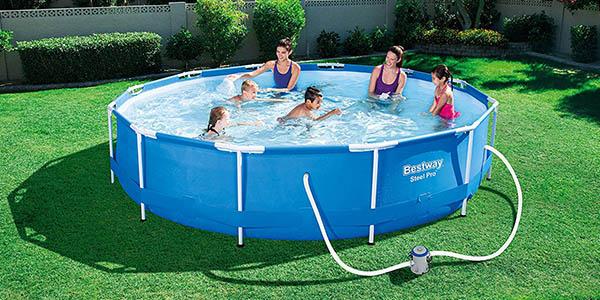 piscina Bestway Steel Pro con depuradora relación calidad-precio estupenda