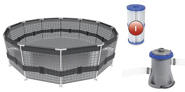 piscina desmontable de plástico resistente Bestway Steel Pro chollo