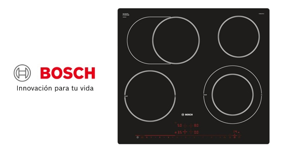 Placa vitrocerámica Bosch PKN601 de 60 cm barata en Amazon