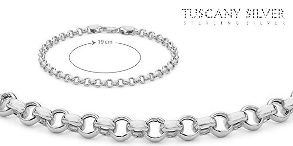 Pulsera en plata de ley Tuscany Silver 8.24.6012 chollazo en Amazon