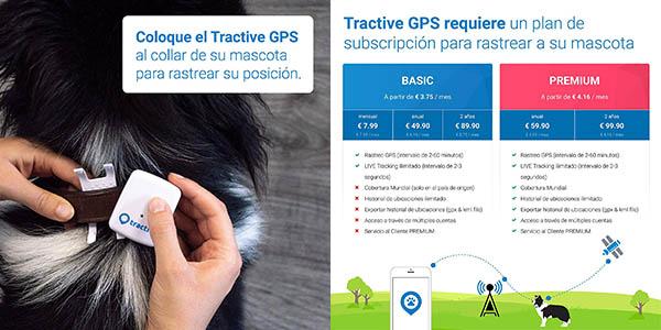 rastreador GPS para mascotas Tractive chollo