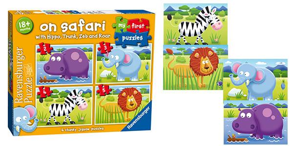 Ravensburger puzle On Safari primer puzle infantil barato