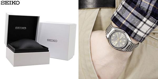Reloj automático Seiko SNXS75K con correa de acero inoxidable para hombre chollo en Amazon