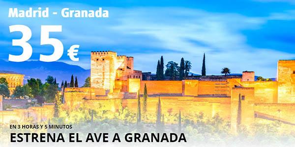 Renfe ofertas AVE Granada junio 2019