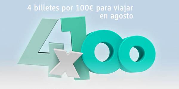 Renfe promoción 4x100 trayectos por España