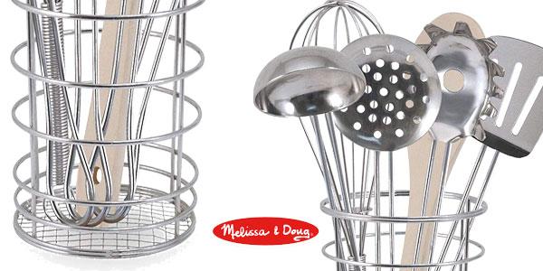 Set de utensilios de cocina Melissa & Doug (19351) para niños chollazo en Amazon