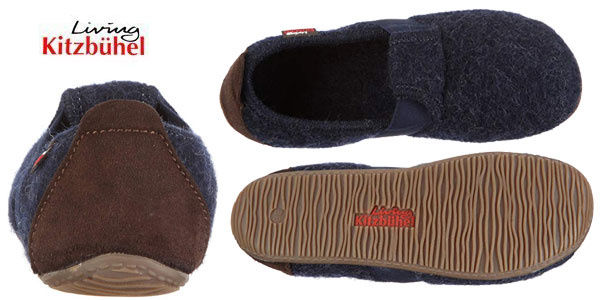 Zapatillas de estar por casa Living Kitzbühel T-modell 1446 de pura lana para niños chollo en Amazon