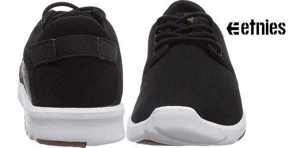 Zapatillas de skate Etnies Scout en color negro chollazo para hombre