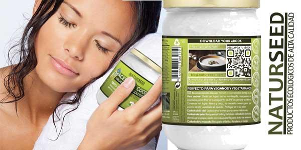 Aceite de coco Virgen Extra Orgánico Naturseed de 500 ml chollo en Amazon