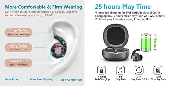 auriculares dodocool Bluetooth con relación calidad-precio estupenda y cupón descuento