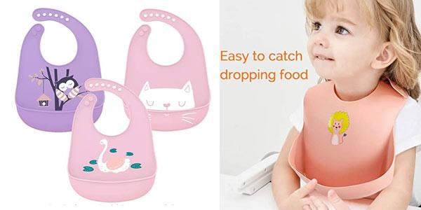 Baberos de silicona para bebés baratos