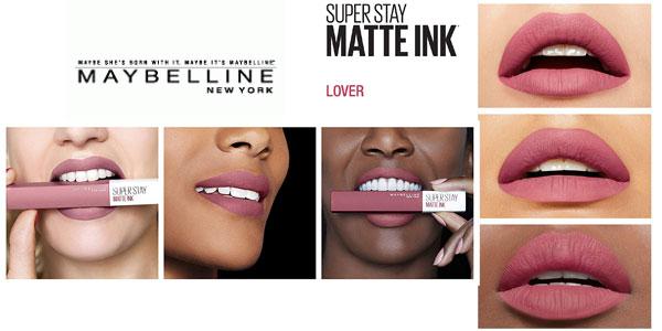 Barra de Labios mate Maybelline New York Superstay Matte Ink tono 15 Lover chollo en Amazon