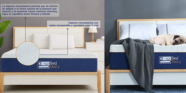 BedStory colchón de espuma con memoria con cupón descuento en Amazon