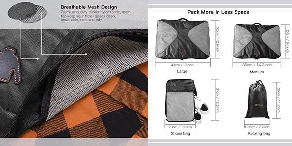 bolsas para organizar maletas resistentes Reyleo chollo