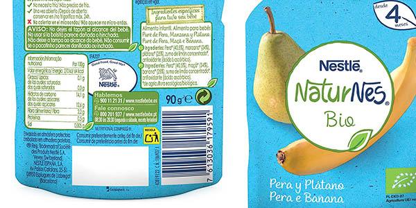 bolsas de puré de frutas Nestlé NaturNes Bio chollo