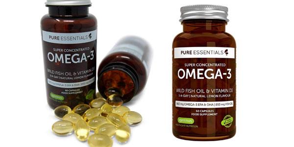 Envase de 60 Cápsulas de Aceite de Pescado Salvaje Pure Essentials Omega-3 barato en Amazon