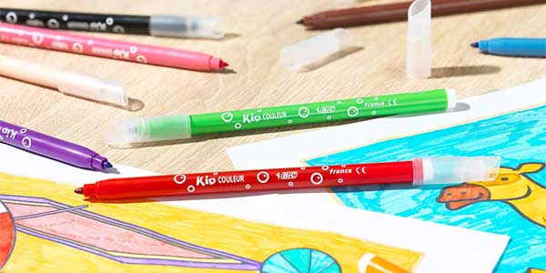 Pack de 24 rotuladores BIC Kids Kid Couluer para colorear chollazo en Amazon