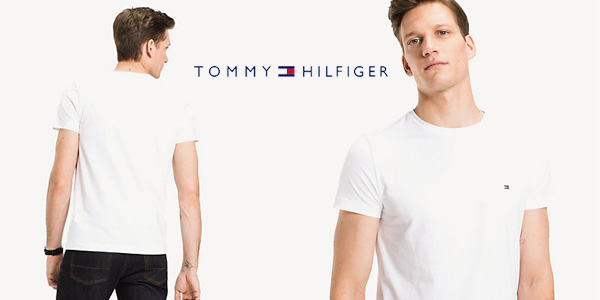 Camiseta de manga corta Tommy Hilfiger Core Stretch Slim Cneck tee barata en Amazon