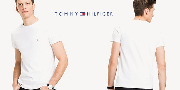 Camiseta de manga corta Tommy Hilfiger Core Stretch Slim Cneck tee chollo en Amazon