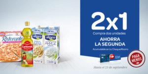 2x1 en Carrefour Septiembre 2019