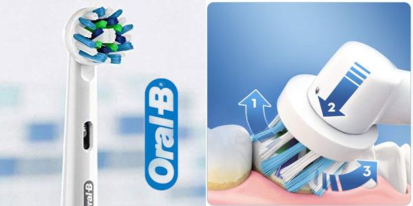 Cepillo de dientes eléctrico recargable Oral-B PRO 2 2500 CrossAction Black Edition chollo en Amazon