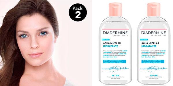 Pack Diadermine de agua micelar hidratante (2 uds de 400 ml) en oferta