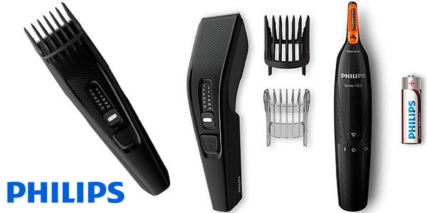 Chollo Pack Philips HC3510 de cortapelos y naricero
