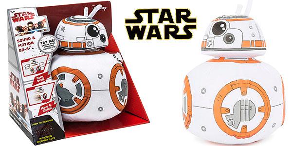 Chollo Peluche BB-8 (Star Wars) de 30 cm con movimiento y sonido