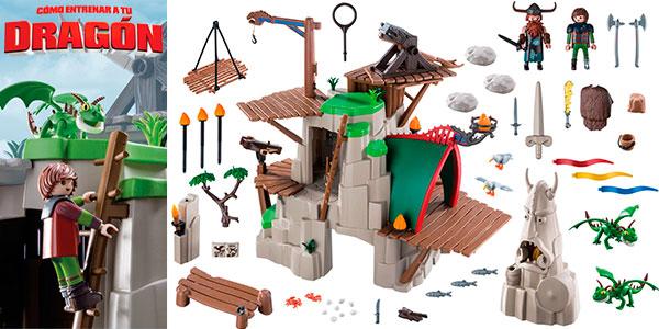 Chollo Set Campamento de Mema de Cómo entrenar a tu Dragón de Playmobil con 2 figuras