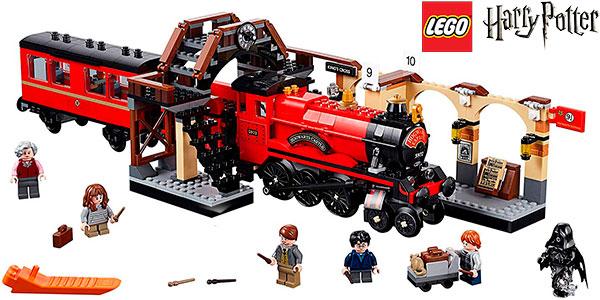 Chollo Tren Hogwarts Express y Andén 9 y 3/4 de LEGO Harry Potter con 5 minifiguras