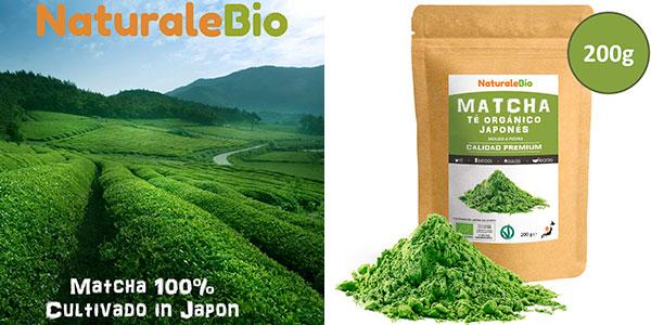 Chollo Té verde matcha ecológico NaturaleBio en polvo (200 g)