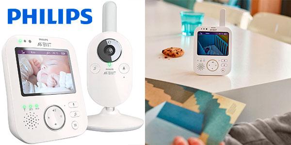 Chollo Vigilabebés Philips Avent SCD630 con cámara de visión nocturna