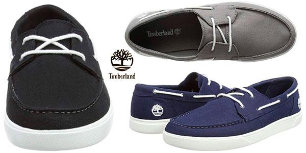 Chollo Zapatos náuticos Timberland Bayham Canvas para hombre
