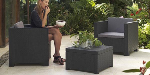 Conjunto 3 piezas muebles de Jardín Shaf Diva chollazo en Amazon