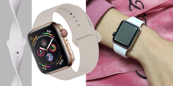 Correas Apple Watch de silicona chollo en Amazon