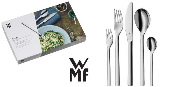 Cubertería 30 piezas WMF Atria acero inoxidable pulido barata Amazon