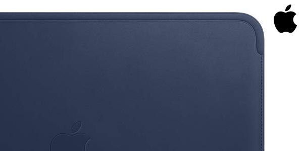 Apple Funda de piel para Macbook en color azul noche barata en Amazon