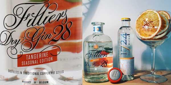 Botella ginebra premium Filliers Dry Gin 28 Tangerine Seasonal Edition de 500 ml chollo en Amazon