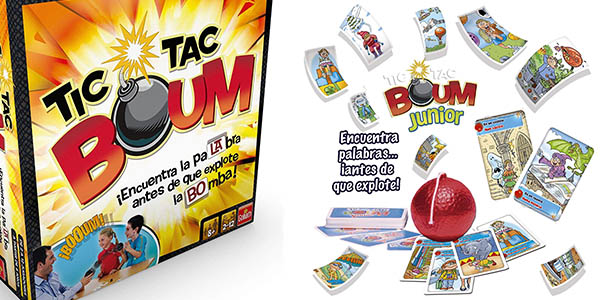 Goliath Tic Tac Boum Junior juego de cartas familiar oferta