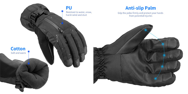 Guantes de Esquí NACATIN chollazo en Amazon