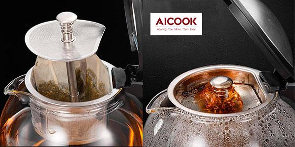 Hervidor de agua Aicook MD325 con infusor de té barato