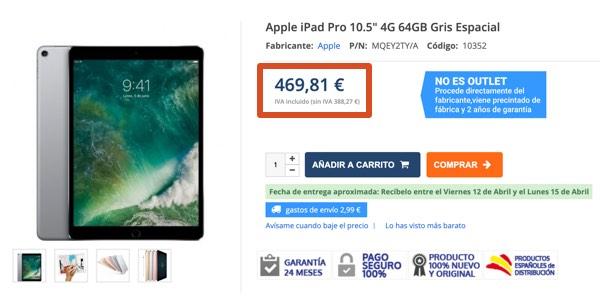 iPad Pro 10.5 celular barato