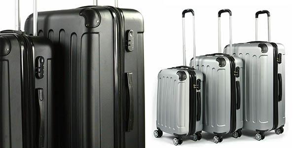 maletas viajes en familia pack en 3 medidas relación calidad-precio estupenda