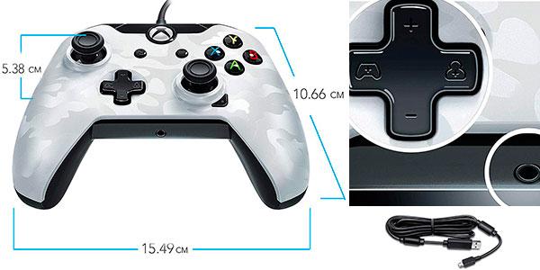 Mando de control PDP licenciado blanco camuflaje para Xbox One barato